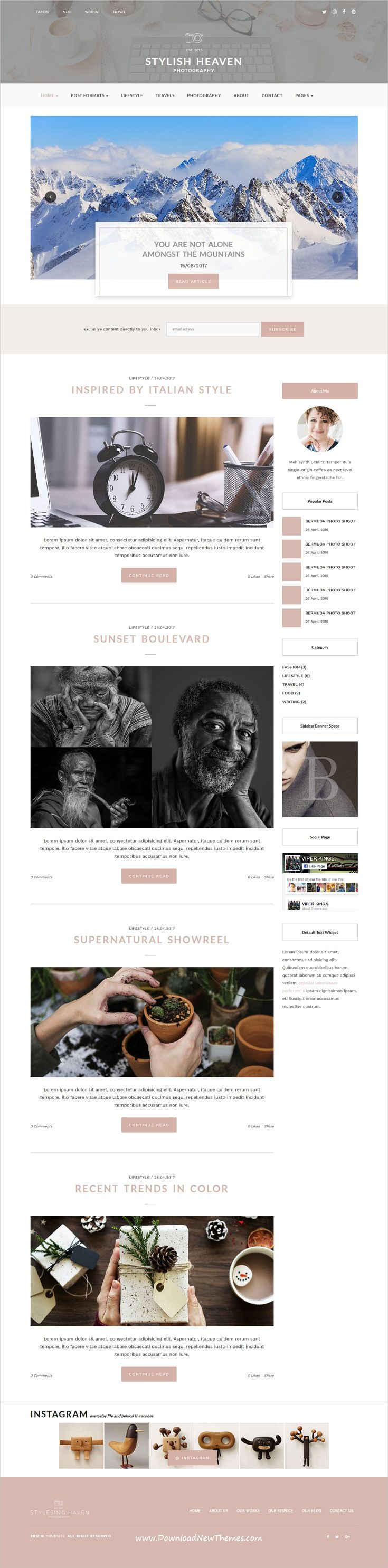 Stylish Heaven - Personal Blog - HTML Template | Template, Website ...
