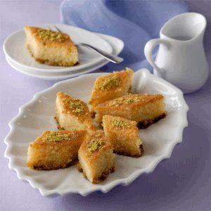 Basbousa With Pistachio Recipe Taart Gebak Recepten