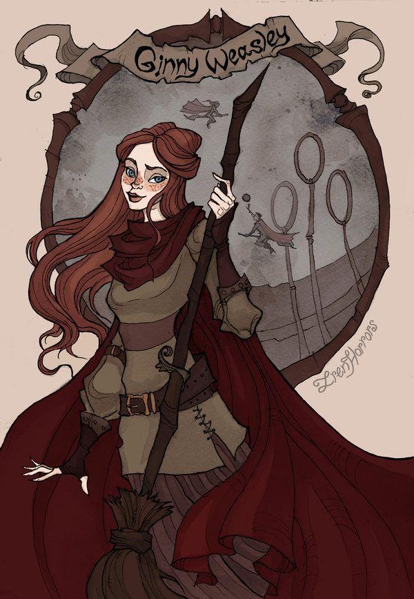 Ginny Weasley By Irenhorrors Deviantart Com On Deviantart