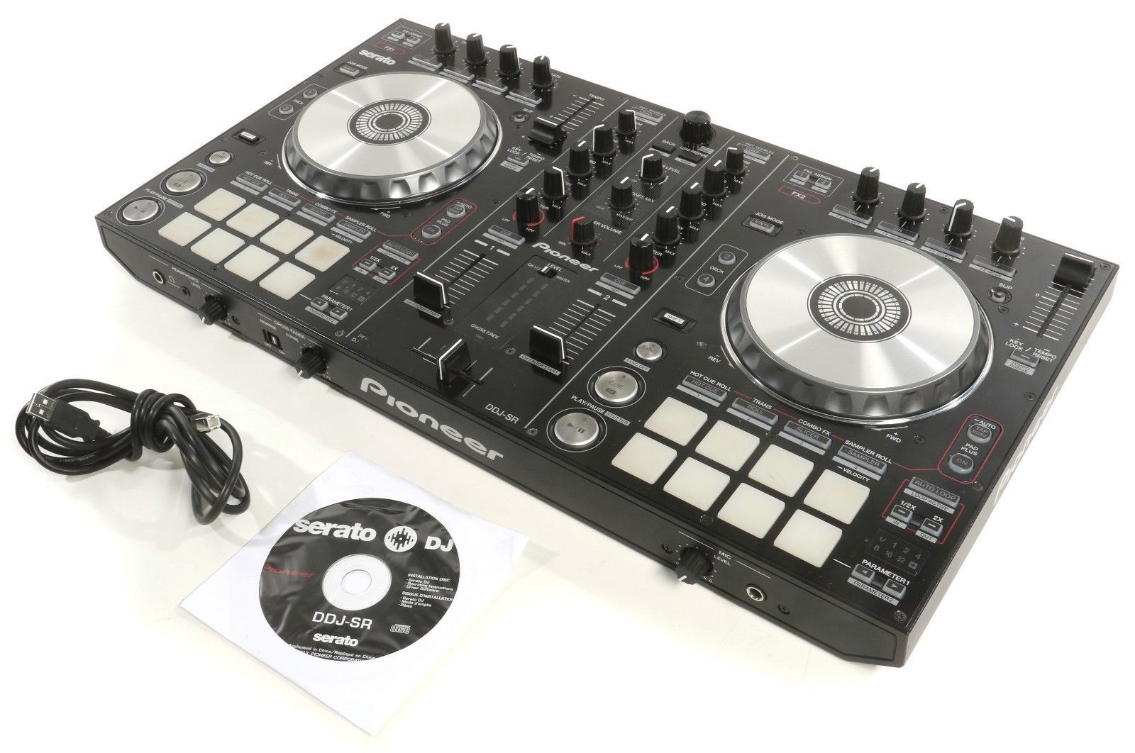 Pioneer DJ DDJ-SR 4-deck Serato DJ Controller W/ 2-channel