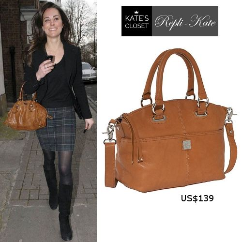 26495f844af1 Kate Middleton Style Inspiration. SHOP repliKates of the Prada tan bowler  bag.