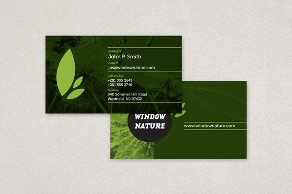 Natural Cosmetics Business Card Template An Organic Cosmetic