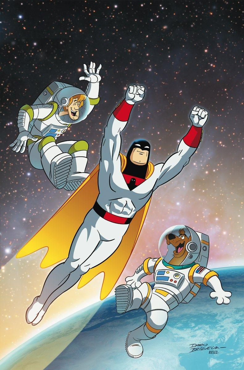 """SCOOBY-DOO_TEAM-UP_20""""¡Trago!  Espacio WHAAAAT ¿Un espectro amenazador del espacio exterior?  Esa es la llamada que le da a Scooby ya la pandilla del caso.  Pero ellos no sospechan que el """"espectro"""" es realmente el Espacio Fantasma, o que el establecimiento de Misterio Inc. contra él es un truco para mantener el héroe espacial ocupado mientras que algunos de sus villanos más formidables invadir la Tierra!"""