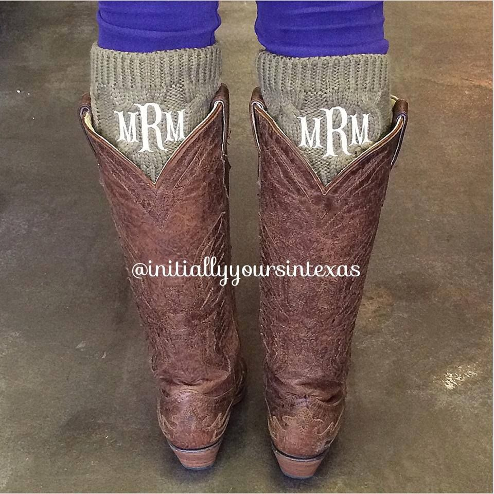 Boot cuffs!! Add a little bit to those favorite boots of yours! Personalized boot cuffs! Instagram: initiallyyoursintexas For orders call 682-224-6776