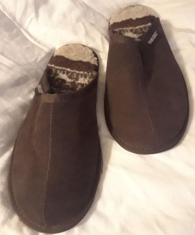 Muk Luks Corduroy slippers Men/'s Shoes Black NEW NWT
