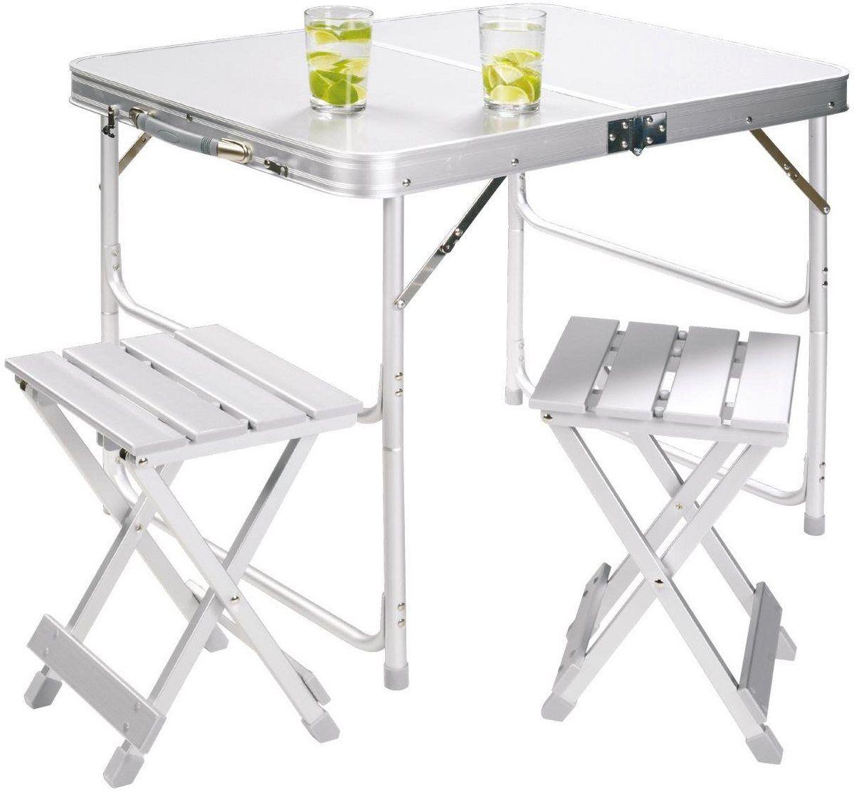 Campingtisch Alu Table Set For 2 Koffertisch Campingtisch Und