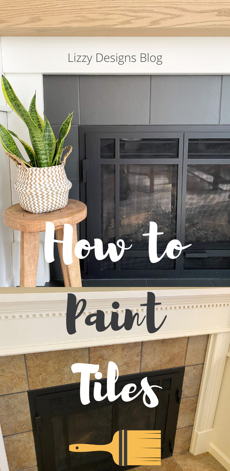 Fireplace Makeover: DIY Mantel and Painting the Tile