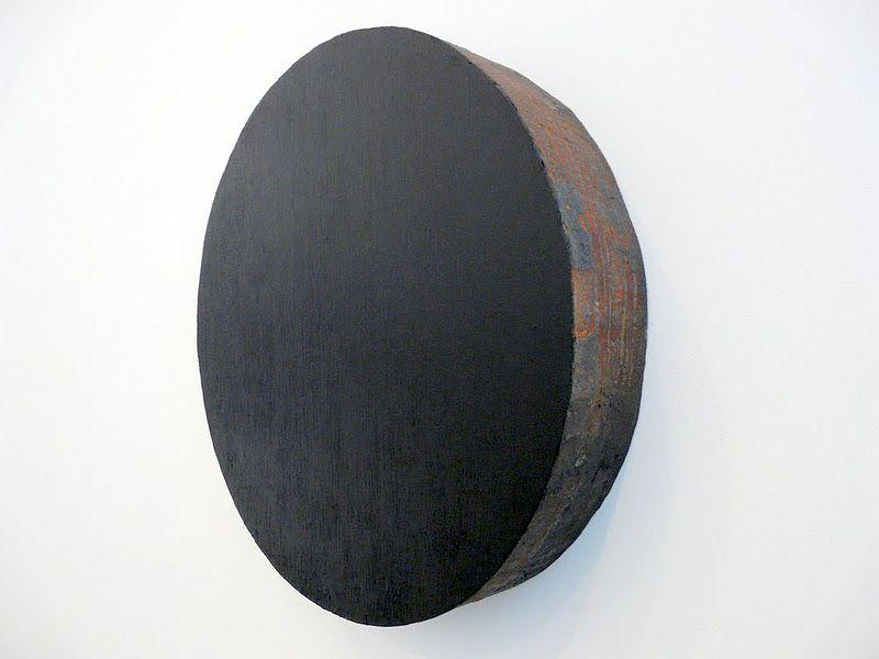 Richard Serra,   paint-stick on steel.