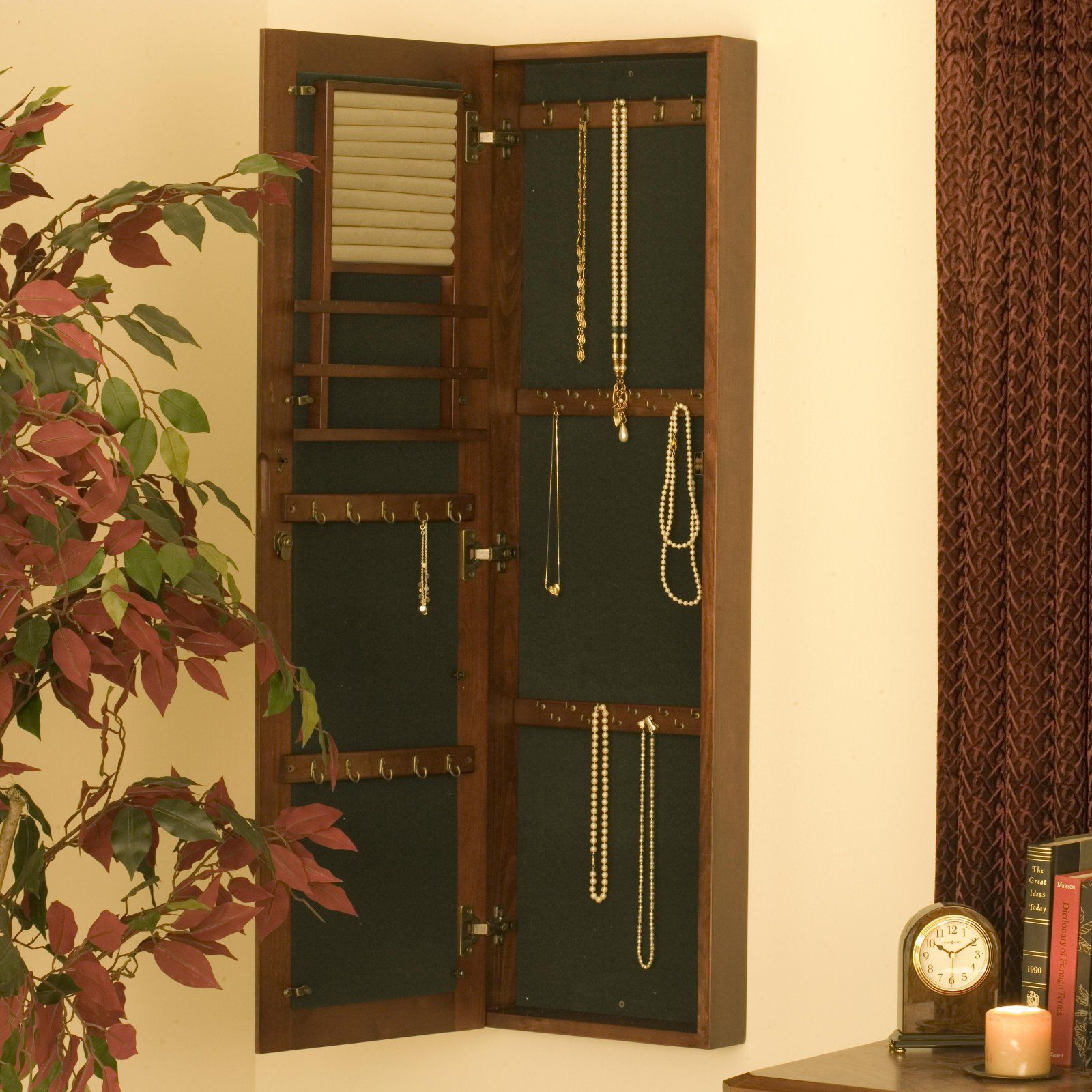 Home Jewelry Armoire Mirror Jewelry Armoire Wall Mounted Jewelry Armoire