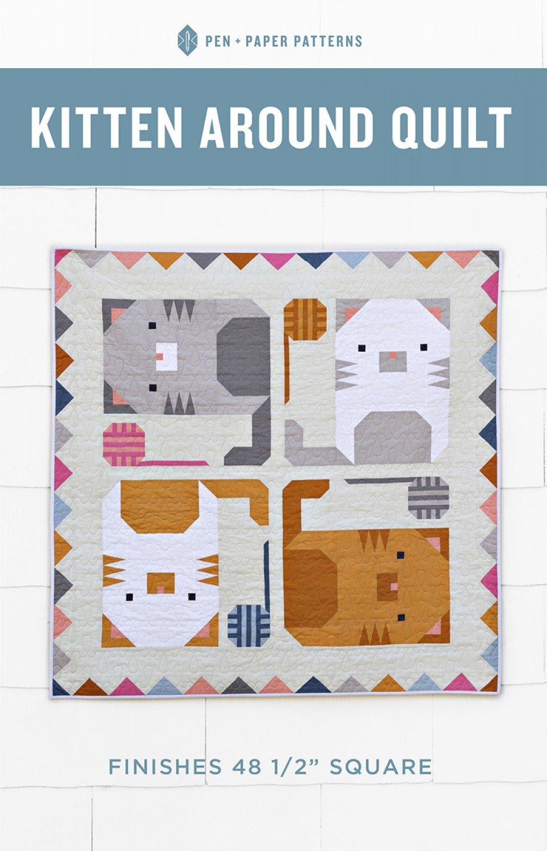 Kitten Around Quilt Pattern By Pen Paper Patterns Bloomerie Fabrics Cat Quilt Patterns Cat Quilt Quilt Patterns