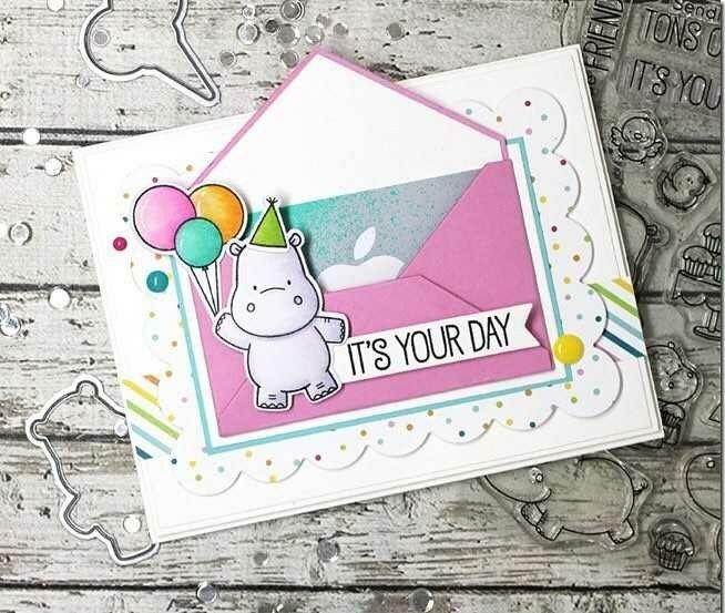 MFT Hippo | Carte anniversaire, Carte, Cartes