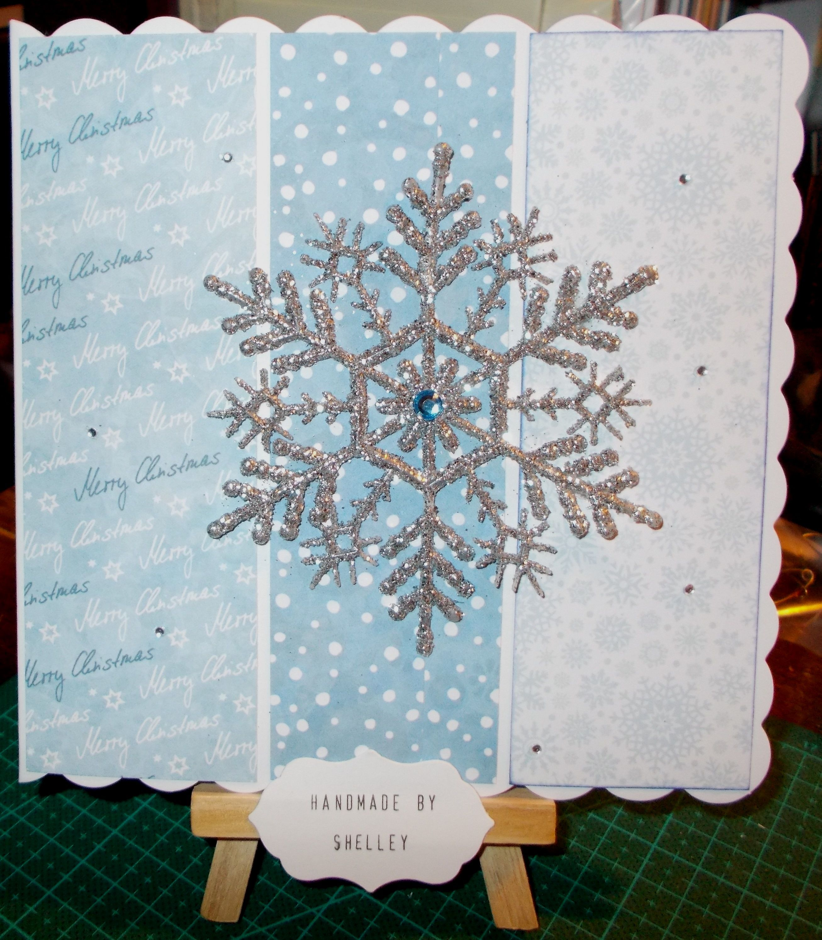 Snowflake tree decoration from Asda. Frosty Christmas