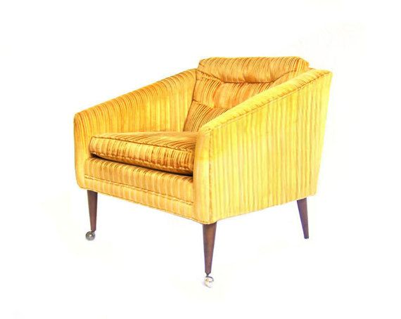 Best Reserved Vintage Upholstered Armchair Yellow Armchair 400 x 300