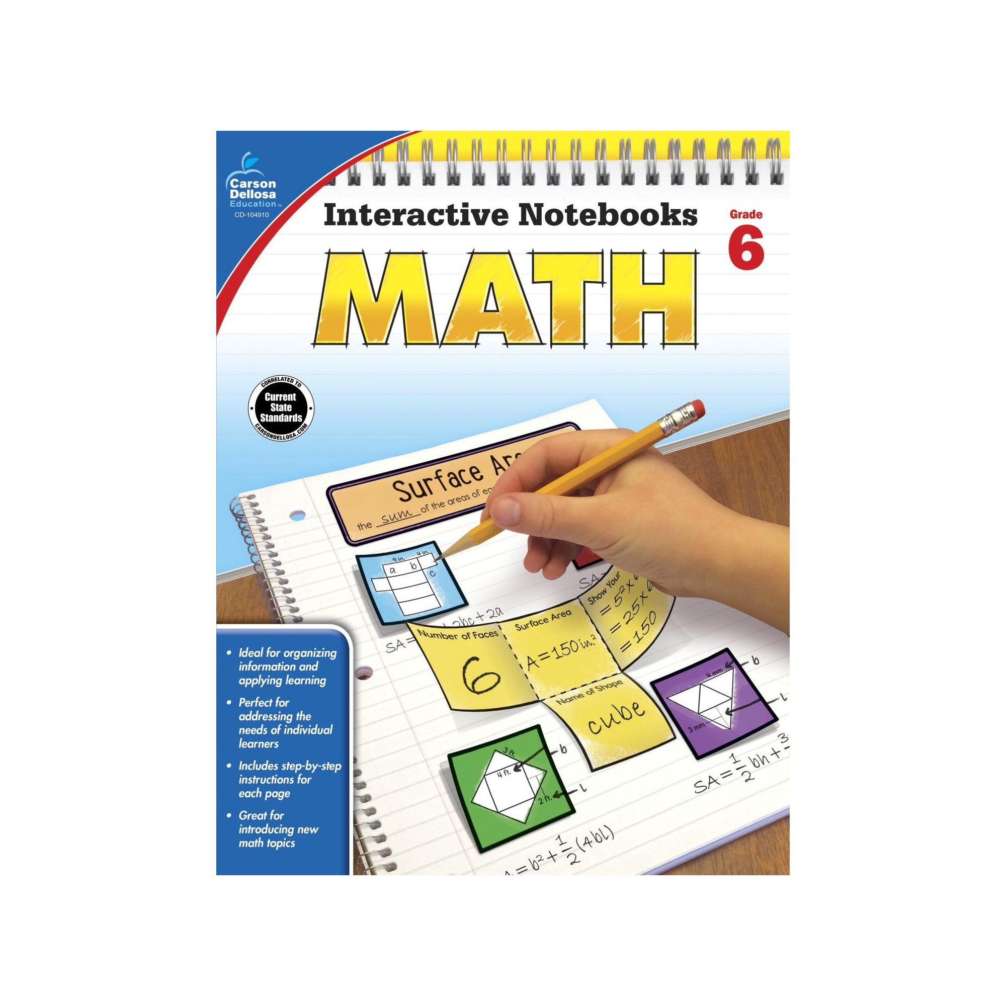 Carson Dellosa Math Interactive Notebook Grade 6