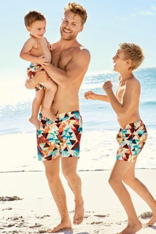60d2388bae Summer calls for all the colours and these matching swim shorts for your  little one AND his dad are ideal for the beach!