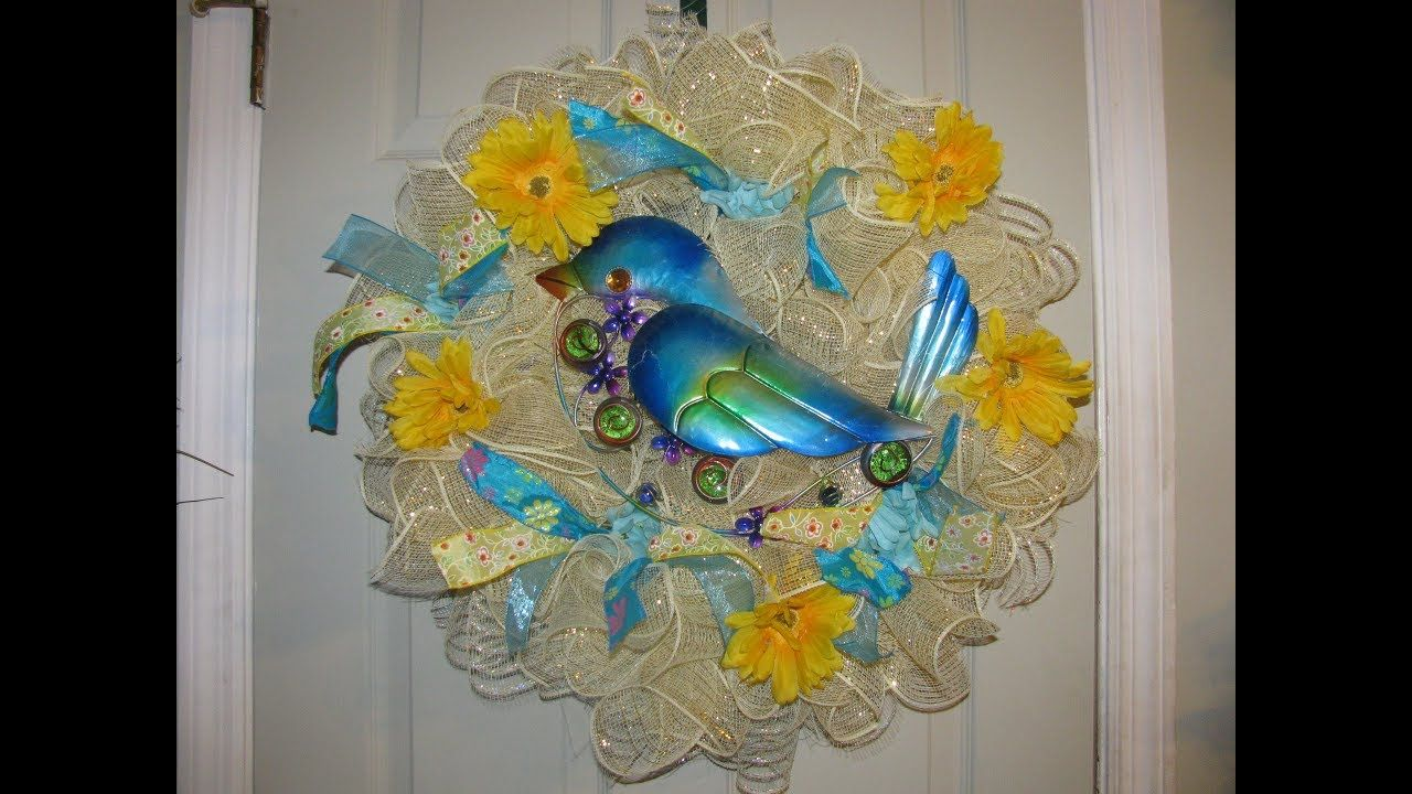 How To Make Carmen S Curly Q Style Bluebird Wreath Crafts
