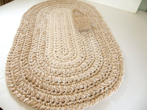 Thick Oval Kitchen Rug Bath Mat Or Nursery By Cottagecovecrochet