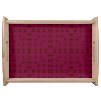 """Stylish Designs"" II Mauve* sm or lg Serving Tray"