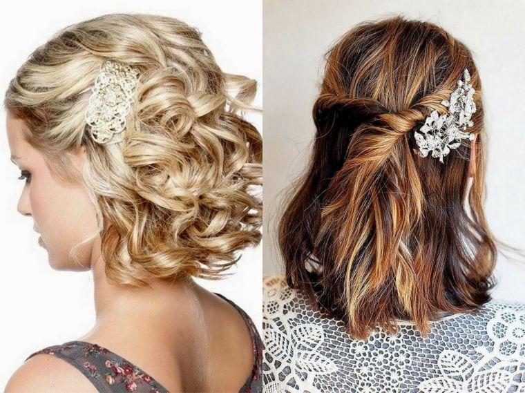 Idea per delle acconciature capelli medi di colore biondo e castano e  accessori 9e0ed9f90c32