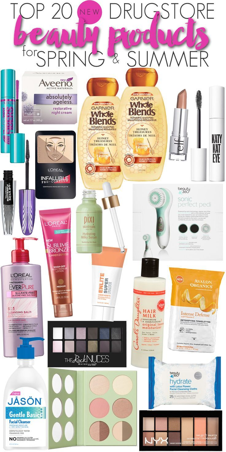 Top 20 New Drugstore Beauty Products for Spring & Summer