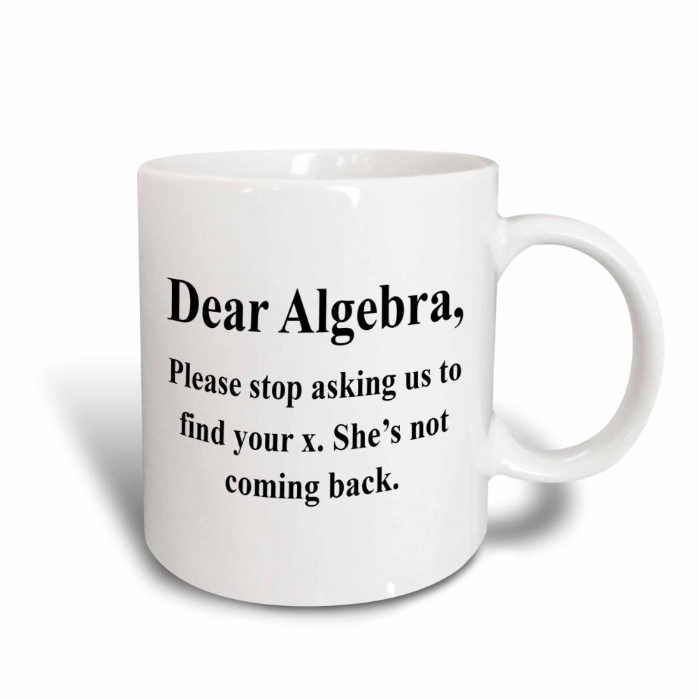 3dRose Dear Algebra please stop asking us to find your x, Ceramic Mug, 15-ounce - Walmart.com