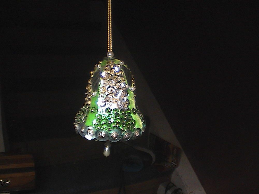 Vintage Beaded Bell Christmas Ornament