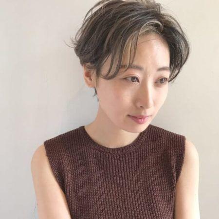 ハンサム ショート 前髪 あり 芸能人にも人気♡前下がりのショートボブスタイル集【HAIR】