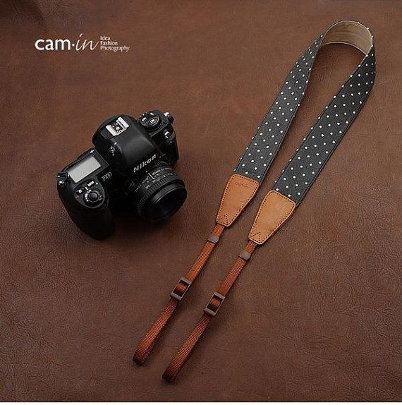 Leather Camera Strap Leather Single Camera Sling Handmade Antique Brown