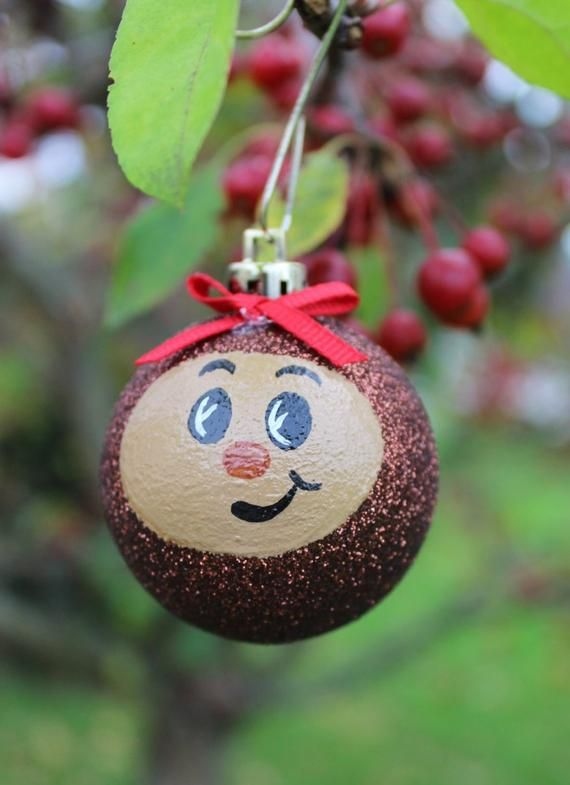 2 (2inch) Ohio State Buckeye Ornaments, Brutus Buckeye Christmas Tree Ornaments #ohiostatebuckeyes