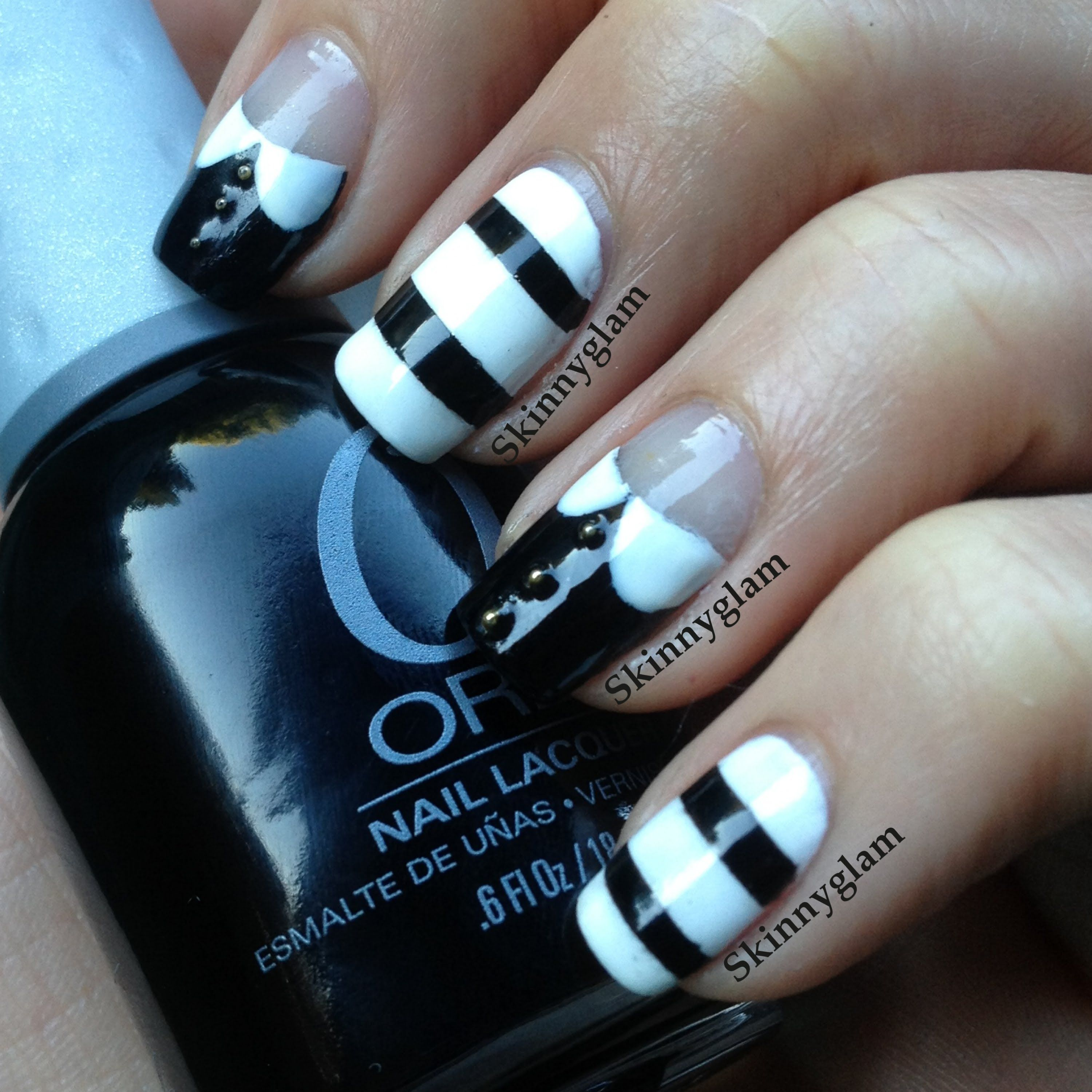 The Adams Family nail art tutorial - Wednesday & Pugsley | NAILS ...