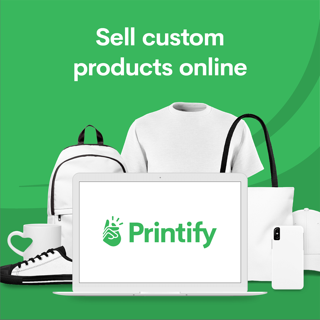 Home (With images) | Printify, Print on demand, Custom branding
