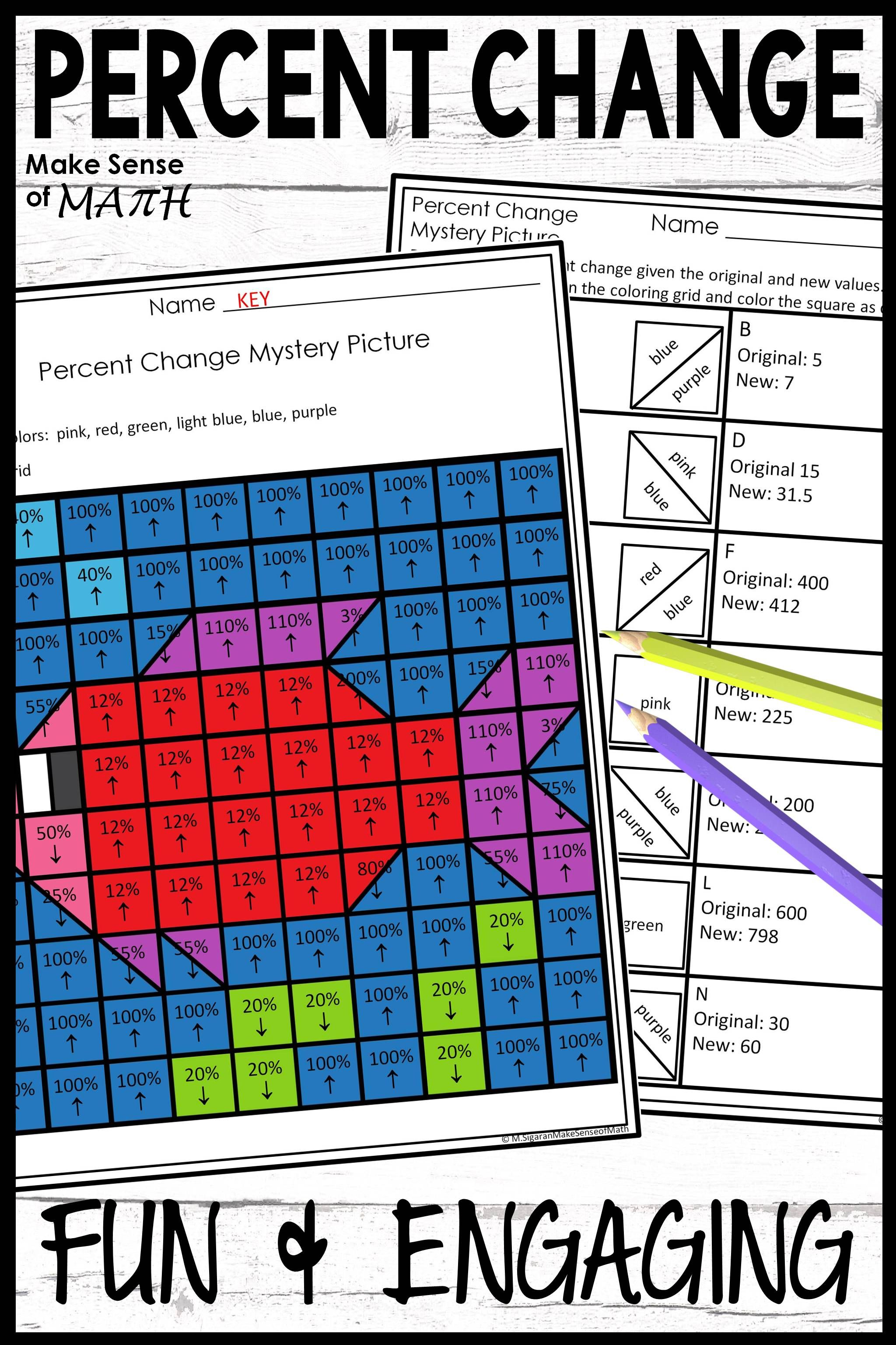 Percent Change Activity Worksheet