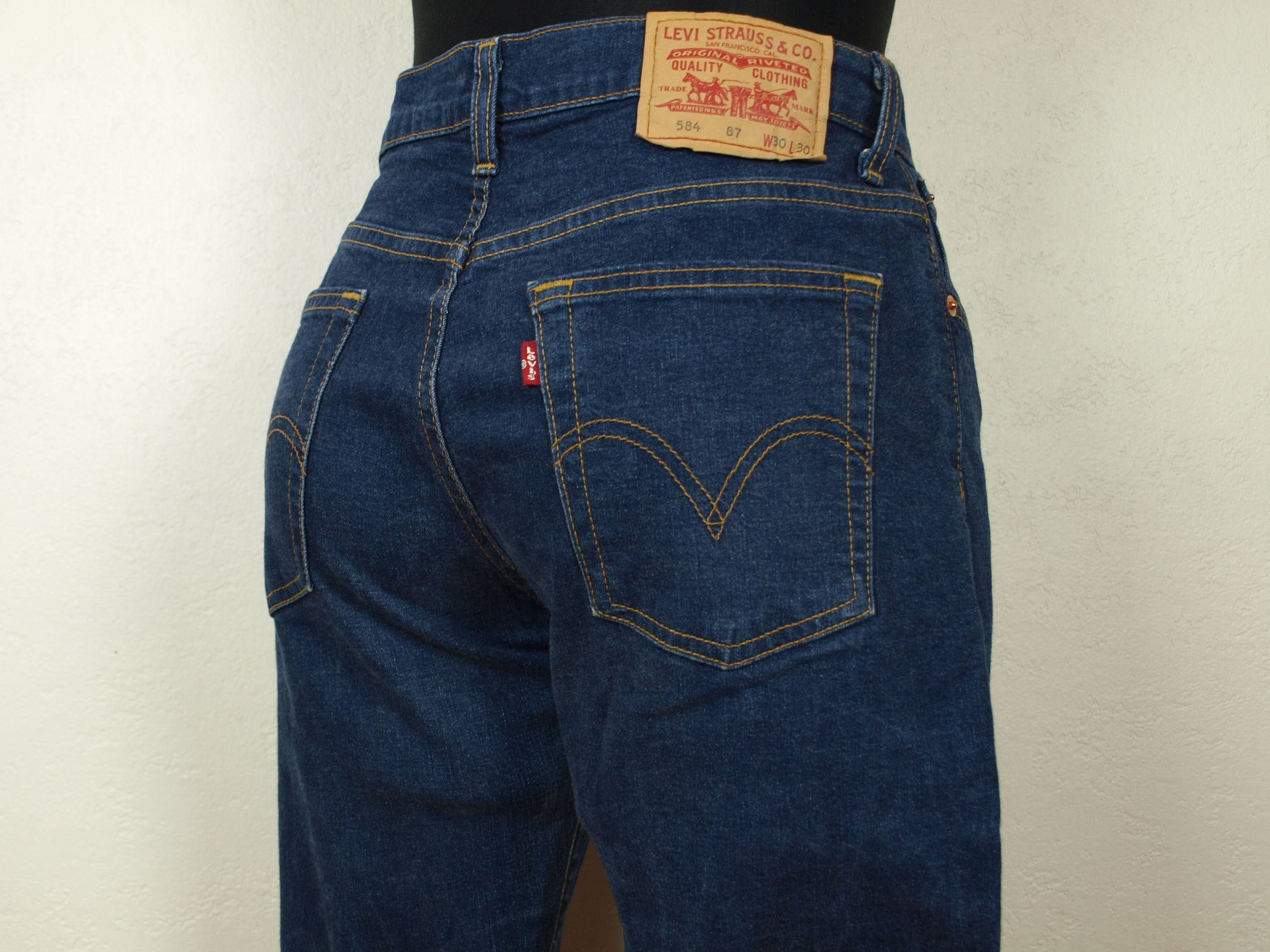 86892099ad Vintage Levis 584 Blue Levis Strauss 584 jeans Size W30 L30 (29) Boot Cut  100% Cotton Made in Turkey wide leg opening Levis jeans Blue Levis by ...