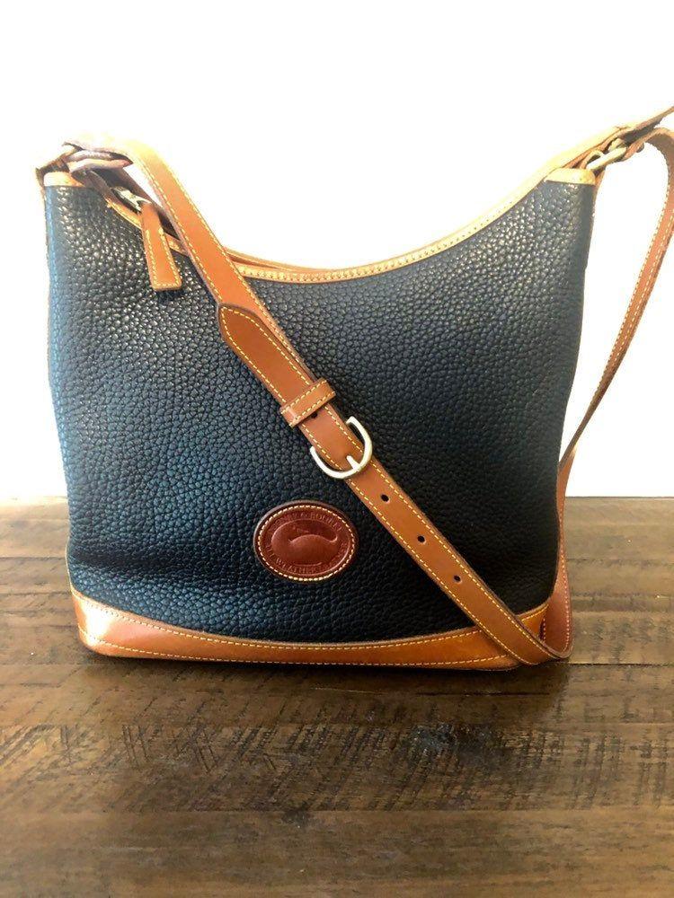Leather Shoulder Bag Dooney Bourke