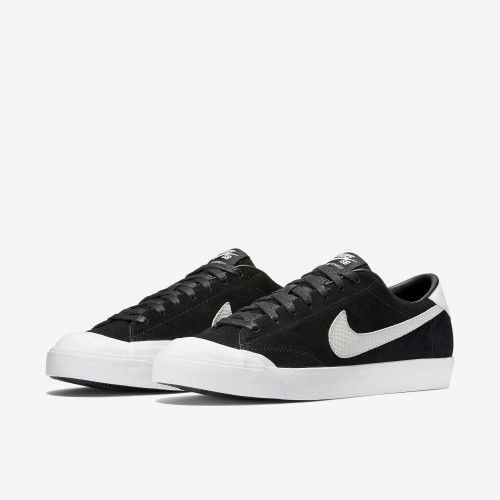 a8143abe4d0e2 Nike Mens Zoom All Court Ck Qs Black white Skate Shoe (12.5)
