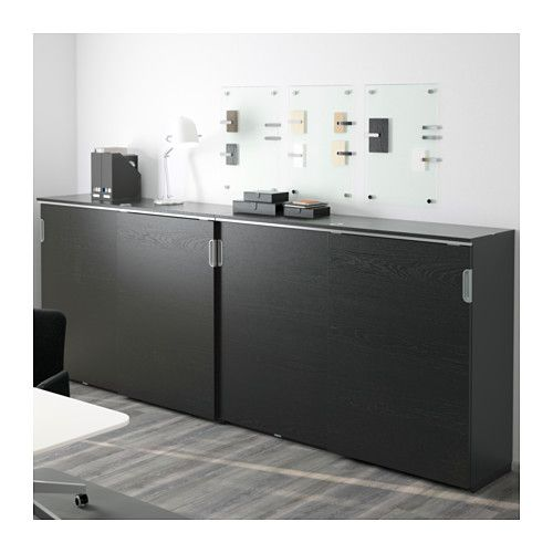 white office cabinet with doors. GALANT Storage Combination W Sliding Doors - Black-brown, 126x47 1/4 \ White Office Cabinet With