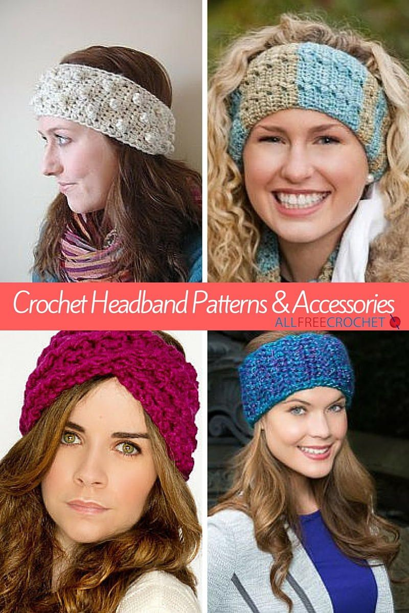 50 Crochet Headband Patterns | Querbeet, Mütze und Stricken