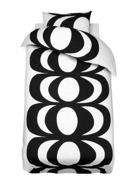 Kaivo-pussilakanasetti (valkoinen,musta) |Sisustustuotteet, Makuuhuone, Pussilakanat | Marimekko
