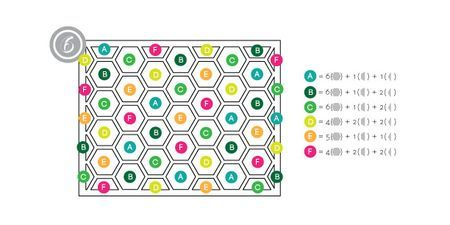Hexagon layout placement guide download - scroll down page - below video link