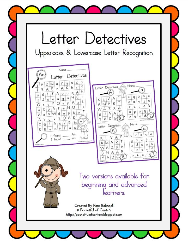 letter detectives printable a z letter searches printable letters literacy and kindergarten. Black Bedroom Furniture Sets. Home Design Ideas