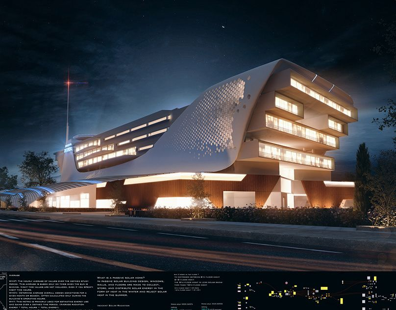 general hospital on Behance Hospital architecture