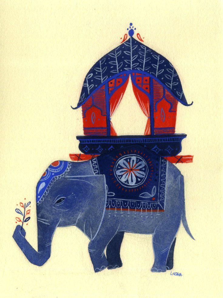 Traditional Indian Elephant Motifs Indian elephant...