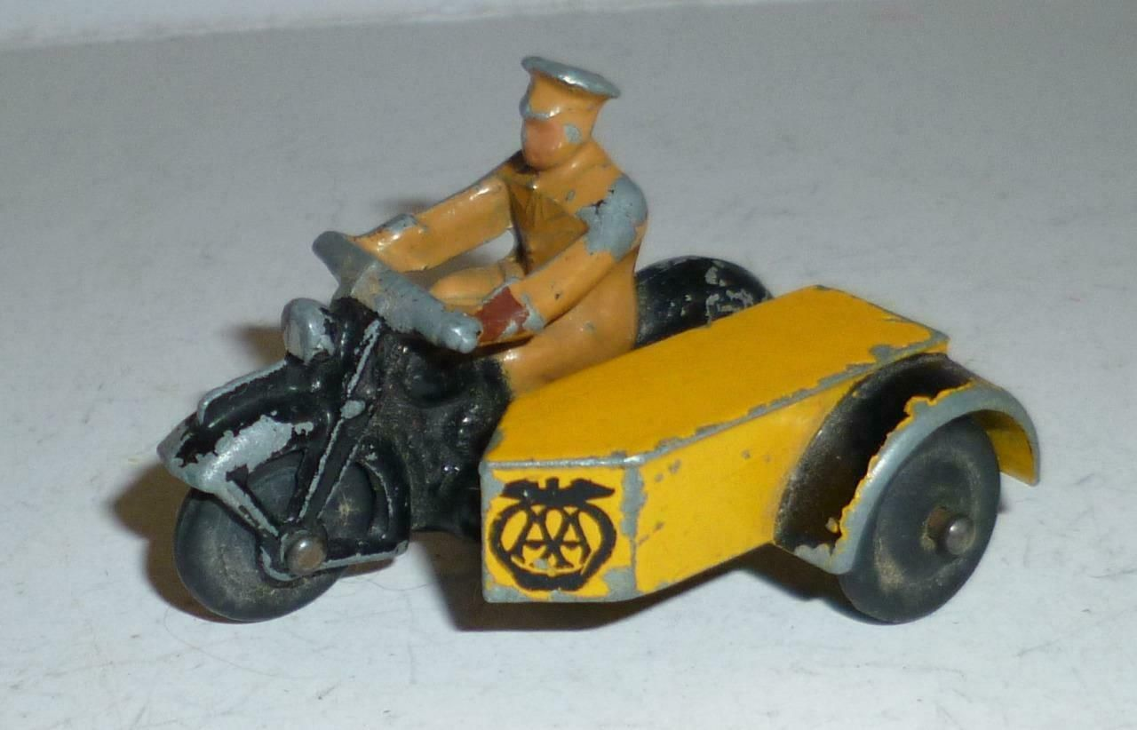 MECCANO DINKY TOYS VINTAGE LEAD PREWAR AA MOTORCYCLE AND