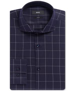 Boss Men's Slim-Fit Dress Shirt - Blue 14.5