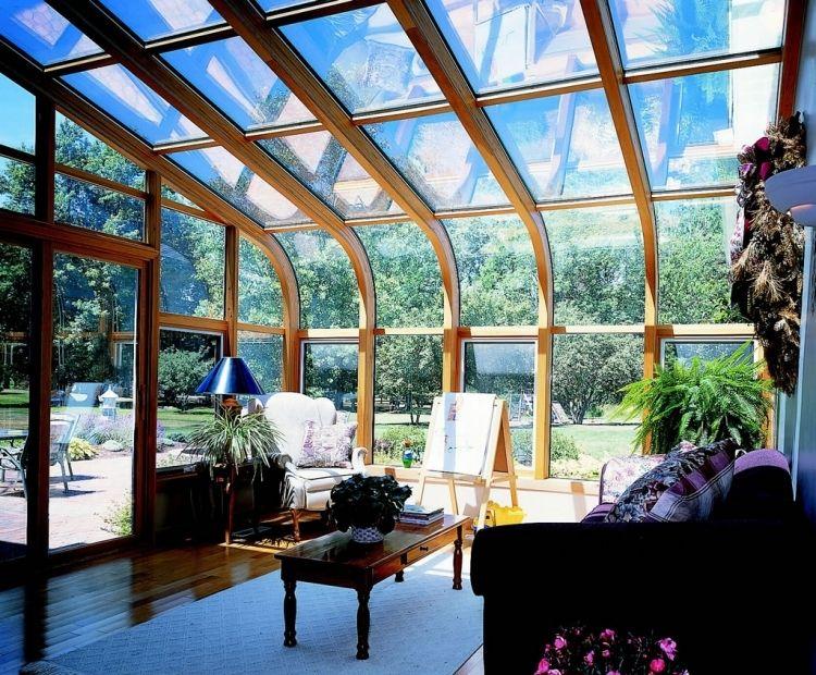 Haus Aus Holz Selber Bauen wintergarten holz selber bauen tipps glasdach verglasung gewoelbt