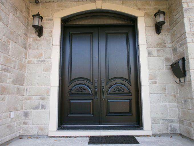 Wooden Entry Door Portes Dentrée En Bois Portes Bourassa - Double porte d entrée