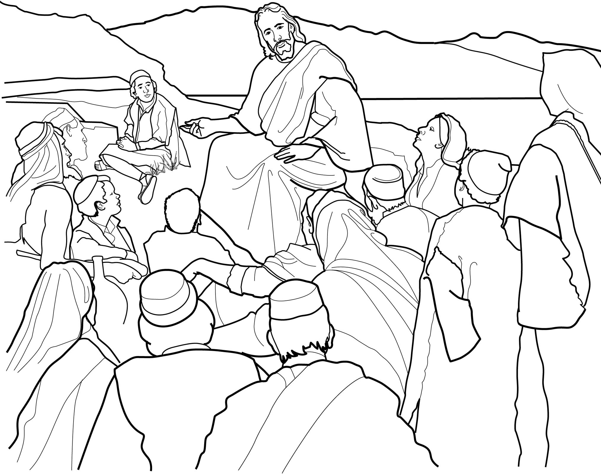 The Sermon On The Mount Coloring Page For Children From Lds Org