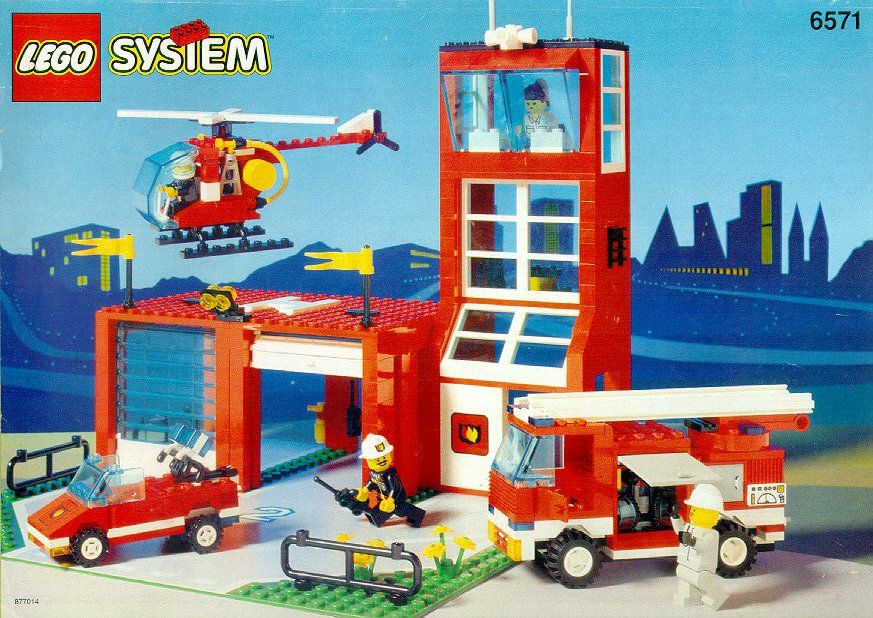 Rescue Fire Station With Rescue Helicopter Lego 6571 Lego Fire