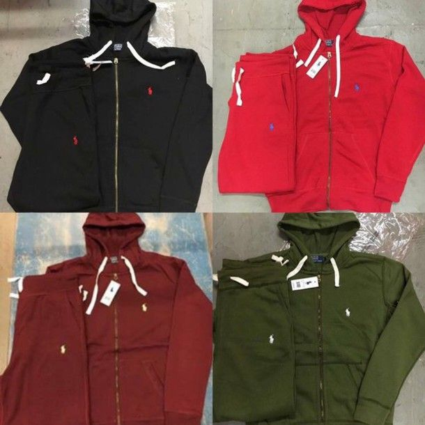 d85ebac93 polo jumpsuit hoodie ralph lauren polo jacket ralph lauren sweatsuit set  designer sweatshirt sweatpants sweat the style unisex red black white polo   ...