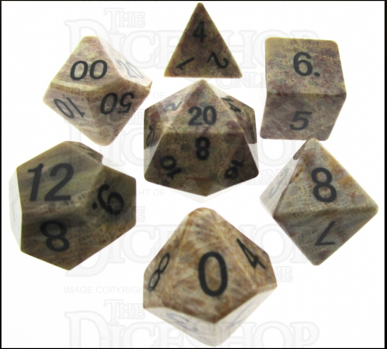 TDSO Coral Fossil Dice Set